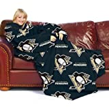 NHL Pittsburgh Penguins Comfy Throw Blanket with Sleeves