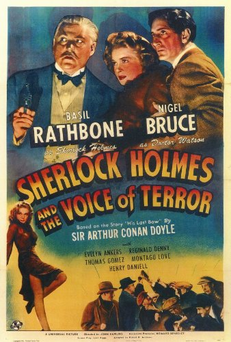Sherlock Holmes: The Voice of Terror Vintage Film Poster