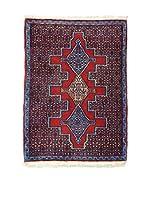 Eden Alfombra Senneh Azul/Rojo 77 x 103 cm