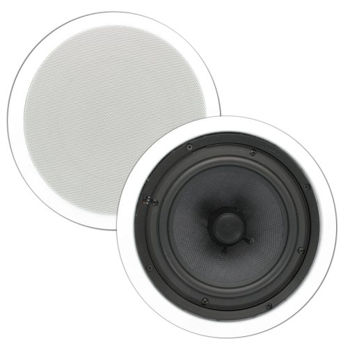 Theater Solutions Tss8C 8-Inch In Ceiling Speakers (White)