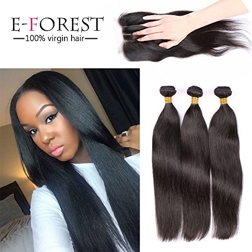 E-forest-hair-6A-Virgin-Brazilian-Remy-Human-Hair-Silky-Straight-Natural-Color-3-Bundles-300g-Hair-weftWeave-Extension-1-Piece-3-Way-Part-44-Top-Lace-Closures310-hair-weft10-closure