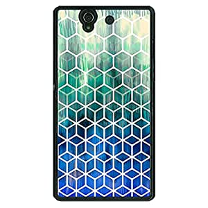 Jugaaduu Blue Hexagon Pattern Back Cover Case For Sony Xperia Z