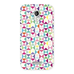 Gorgeous Trangel Color Print Back Case Cover for Micromax Canvas HD A116