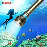 BeesClover 18000LM 7 XML-T6 LED Strong Light Diving Flashlight Torch Professional Underwater Waterproof Light Tactical Lantern