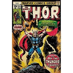 (24x36) Thor - Retro Comic Poster
