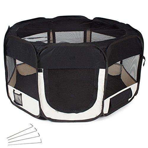 TecTake Tenda box per cagnolini cuccioli e piccoli animali nero