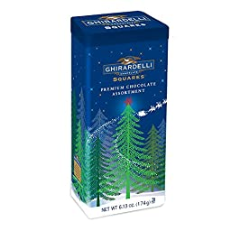 Ghirardelli Assorted Chocolate Squares Celebration Tin, 6.13 Ounce