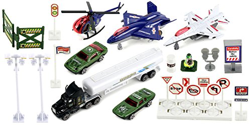 XLM-Army-Military-Affairs-Mini-Diecast-Childrens-Kids-Toy-Vehicle-Playset-w-Variety-of-Vehicles-Accessories