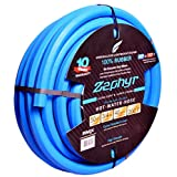 "Zephyr Next-Gen Rubber Garden Hose - Ultra-Light Yet Super-Strong - 3/4"" X 50' (15m) W/ 10 Year Warranty"