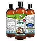 Organic Pet Shampoo & Conditioner: Flea & Tick by Pet Diesel 17 oz For Shiny & Healthy Hair/Coat