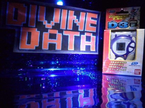 Digimon Season 2 D3 Digivice White Blue Hawkmon Gatomon Version - Divine Data