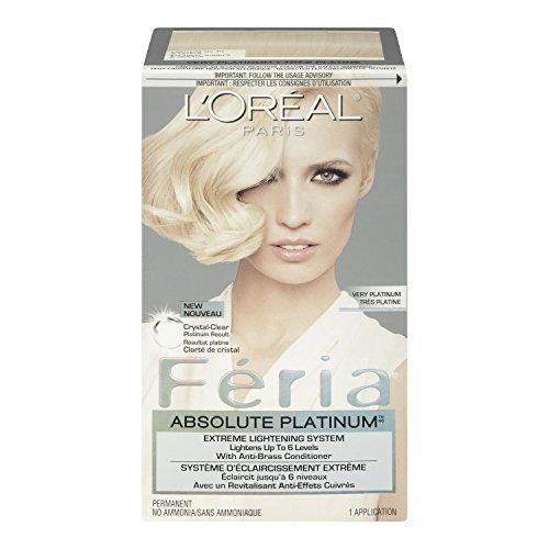 Feria Absolute Platinums Hair Color, Very Platinum (Packaging May Vary) by L'Oreal Paris (Loreal Paris Absolute Platinum compare prices)