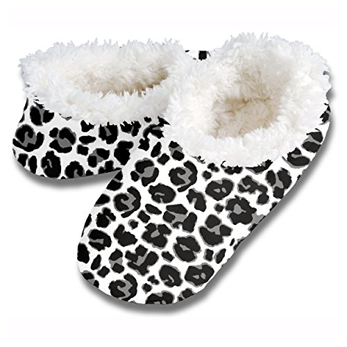 Snoozies Leopard Footie (Medium / 7-8, Gray)