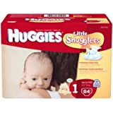 Huggies Little Snugglers Diapers, Size 1, 84 Count