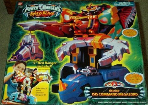 Picture of Bandai Deluxe Isis Command Megazord Power Rangers Wild Force Electronic Action Figure (B000TV6ZRW) (Power Rangers Action Figures)