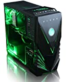 VIBOX Centre 4 - 4.0GHz Quad-Core, GTX 750, Desktop Gaming PC, Gamer Computer with WarThunder Game Bundle, Neon Green LED Internal Lighting Kit PLUS a Lifetime Warranty Included* (New 3.8GHz (4.0GHz Turbo) AMD FX Quad-Core CPU Processor, 1GB Nvidia Geforce GTX 750 Graphics Card, 1TB Hard Drive, 8GB 1600mhz High Speed RAM, Corsair Spec 01 Black Gamer Case, 400W 85+ PSU, DVD-RW, No Operating System)