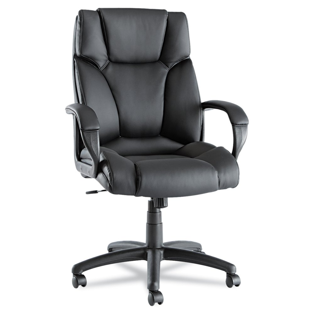 Alera Fraze High-Back Swivel/Tilt Chair, Black Leather