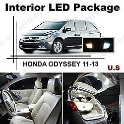 See Ameritree Xenon White LED Lights Interior Package + White LED License Plate Kit for Honda Odyssey 2011-2013 (11 Pcs) Details