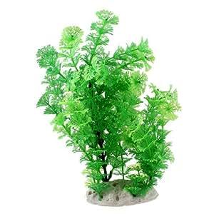 9.4Height Green Plastic Water Plant Ornament for Fish Aquarium