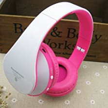buy Us-Vision Brand New Kg52 Kg5012 Wireless Bluetooth Folding Stereo Earphone, Heavy Bass Headphones, With Microphone For Smartphone Tablet Ipad Computer, Handsfree Headset Sport Mp3 Player Surpport Sd/Tf Card Fm Radio Function (Tf Card Not Included) , Compa