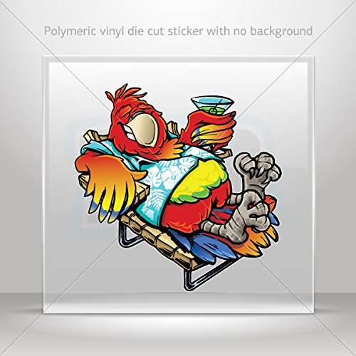 Decals Decal Decadence Parrot On Vacation Tablet Laptop Weatherproof Sports Motorbike 0500