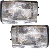 1986-1993 Volvo 240 Headlight Headlamp Front Head Light Lamp Pair Set Right Passenger AND Left Driver Side (1986 86 1987 87 1988 88 1989 89 1990 90 1991 91 1992 92 1993 93)