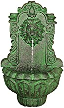 Design Toscano Casa Del Lago Lion Head Wall Niche Sculptural Fountain