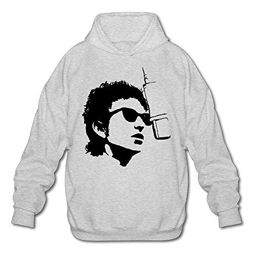 PHOEB Mens Sportswear Drawstring Hoodie Sweatshirt,American Singer Writer Ash Large