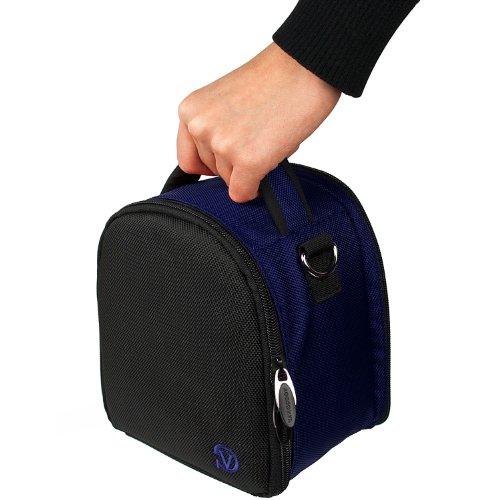 BLUE Laurel Lightweight Camera Bag Case For Panasonic Lumix DMC Point and Shoot Digital Camera (Blue Light Reducer compare prices)