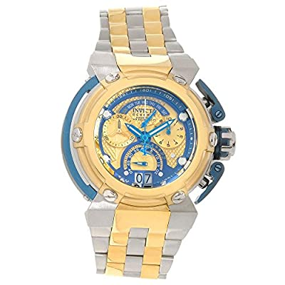 Invicta Mens Reserve Specialty Swiss 8040.N Chrono Day Retrograde 18 GP Two Tone Watch 16048