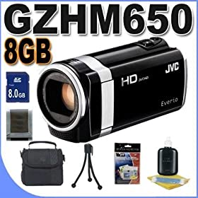 JVC GZ-HM650B 8GB Full HD Everio Camcorder (Black) BigVALUEInc Accessory Saver 8GB Bundle