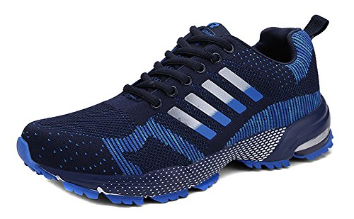 JiYe Athletic Shoes Men's Women's Outdoor Tennis Jogging Walking Fashion Sneaker,Running Shoes,Blue,8US-Women/7US-Men