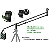 IMORDEN 5.7ft CarbonFiber Mini dslr Camera Crane Jib Arm(hold up to 8lbs) with Quick release plate, bowl, Sandbag, Environment-friendly Carrying Bag