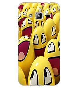 ColourCraft smilies Design Back Case Cover for SAMSUNG GALAXY J3 (2016)