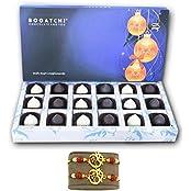 CHOCOLATE GIFT BOX, MODAK , 2 FREE RAKHI ONLINE, HAPPY RAKHI CHOCOLATE, RAKHI WITH CHOCOLATE, DARK AND WHITE CHOCOLATE...