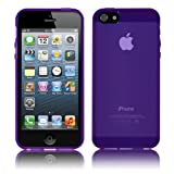 Cbus Wireless Purple TPU Flex-Gel Case / Skin / Cover for Apple iPhone 5 5G 5S
