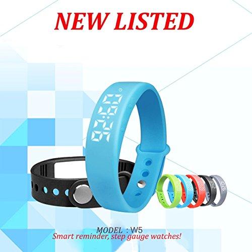 BINKO-W5-LED-Smart-Armbanduhr-Sportuhr-Schrittzhler-Gesundheit-Armbanduhr-Aktivittstracker-FitnessArmband-Kalorienzhler-Schlaftracker