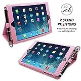 Snugg Candy Pink Leather iPad Mini & Mini 2 Retina Case with Lifetime Guarantee - Flip Stand Cover with Auto Wake/Sleep, Elastic Hand Strap & Protective Premium Nubuck Fibre Interior for the Apple iPad Mini & Mini Retina