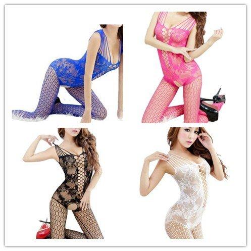 Samgu-Neue Frauen sexy Mesh geöffnete Gabelung BodyStocking Lingerie