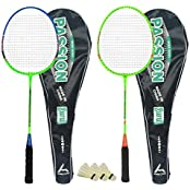 Guru Passion BR08 COMBO-02 Badminton Racket Set Pack Of Two With Two Cover & 3 Shuttlecock Size: 27 Inch