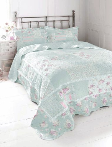 100% COTTON BEDDING -DOUBLE BEDSPREAD THROW SET