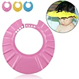 Ibepro® Safe Shampoo Shower Bathing Protection Soft Cap Hat for Toddler's, Baby ,Children & Kids to Keep the Water Out of Their Eyes & Face (Pink)