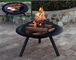 Verona firepit with 4 chairs large fire bowl garden for Amazon prime fire pit