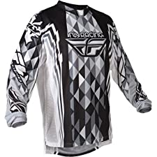 2012 Fly Racing Youth Kinetic Jersey (LARGE) (BLACK/GREY)