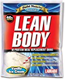 Labrada Nutrition Lean Body Meal Replacement Powder, Vanilla Ice Cream, 2.78-Ounce Packets (Pack of 80)