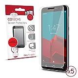 Cotechs® - Vodafone Smart Prime 6 Displayschutzfolie (PACK OF 5) Inklusive Mikrofaser-Reinigungstuch und Applikationskarte