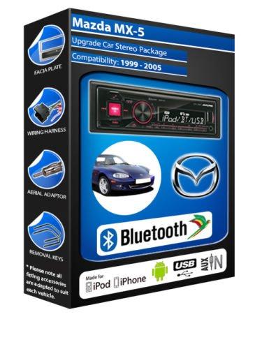 Mazda MX - 5 autoradio Alpine UTE 72BT-kit mains libres Bluetooth pour autoradio stéréo
