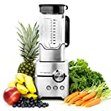 Vremi Professional Blender; Powerful 1400 Watt Mixer and Ice Chopper with 5 Blades, 8 Cup Pitcher and Stainless Steel Base