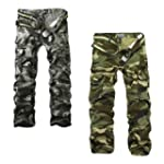 Aubig Men Casual Military Army Camo C...