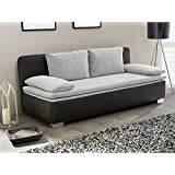 schlafsofa perdana grau mit topper k che haushalt. Black Bedroom Furniture Sets. Home Design Ideas